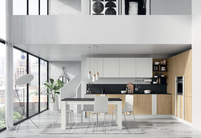 cucina moderna bianca quadra royal oak