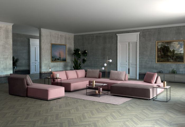 Colombini Casa Divano Domino sedute modulabili