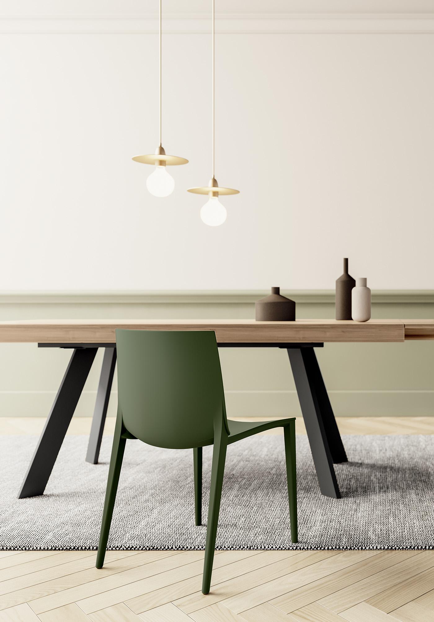 ANITA • Sedia per Sala da Pranzo in Stile Moderno