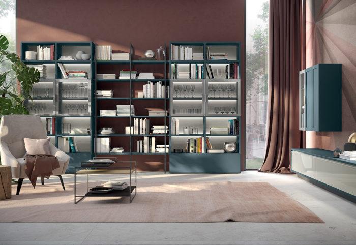 mobili per soggiorno composizione tipo a parete blu opale 2