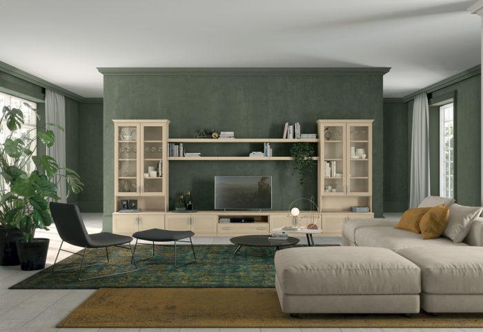 mobili per soggiorno in stile classico arcadia color beige magnolia