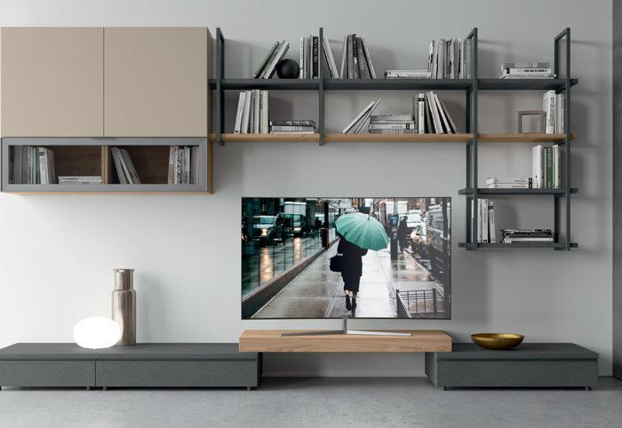 mobili per soggiorno in stile moderno color beige canapa